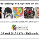 Vernissage de l'exposition des élèves de term option Arts