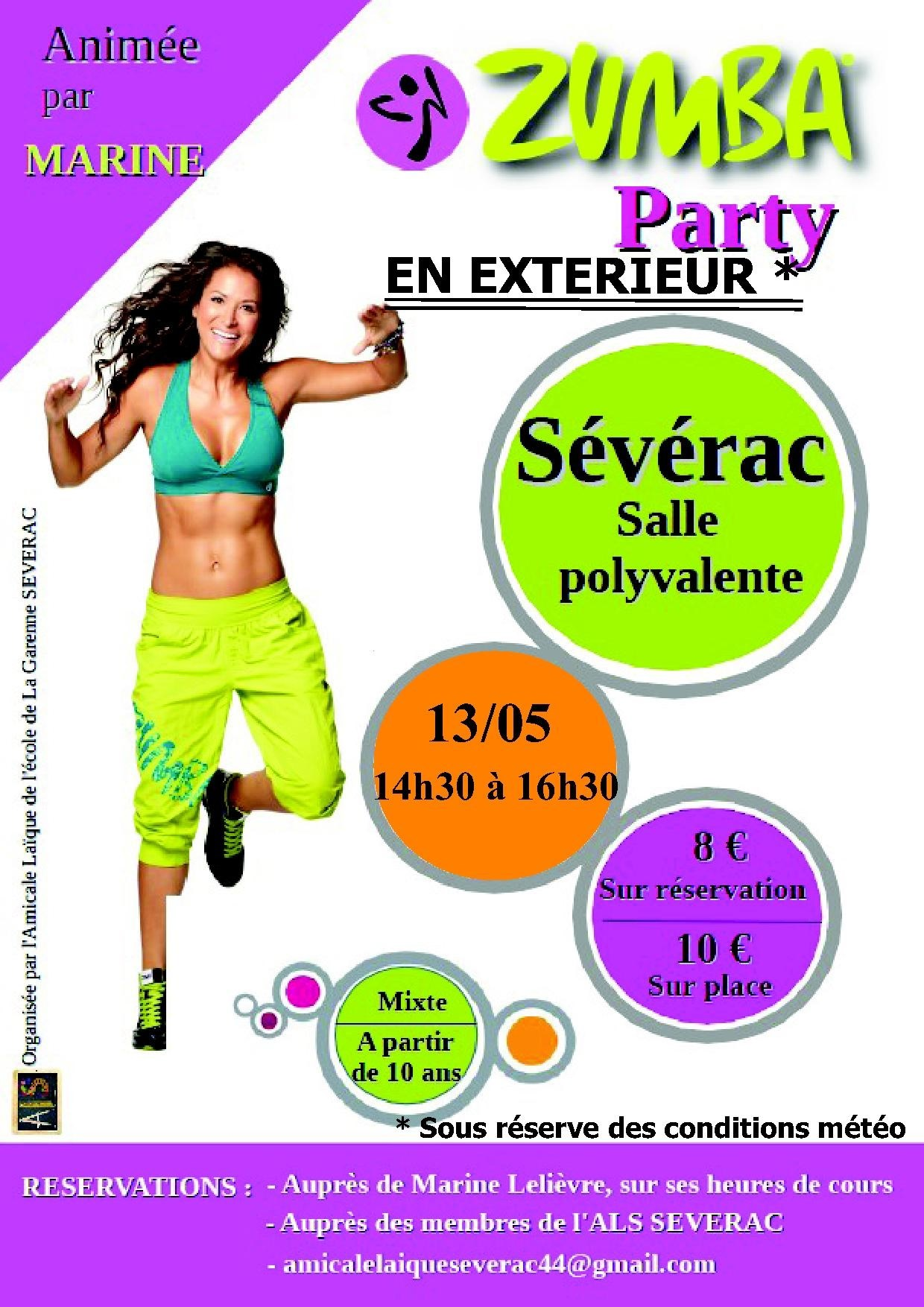 Zumba party s v rac 13 05 2017 sports for Zumba exterieur