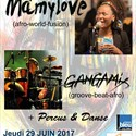 Mamylove, Gangamix, percussions - danse africaine