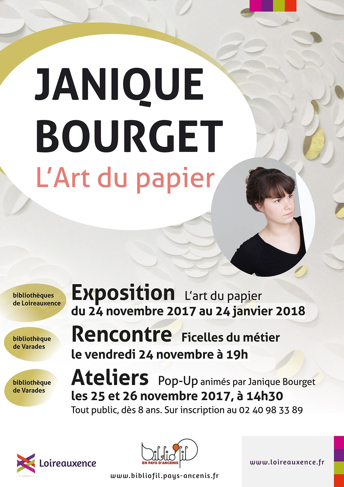 ateliers pop up en papier avec janique bourget loireauxence 25 11 2017 26 11 2017 divers. Black Bedroom Furniture Sets. Home Design Ideas