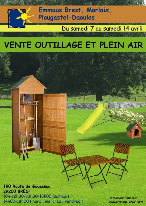 29 brest vente outillage et plein air emma s brest. Black Bedroom Furniture Sets. Home Design Ideas