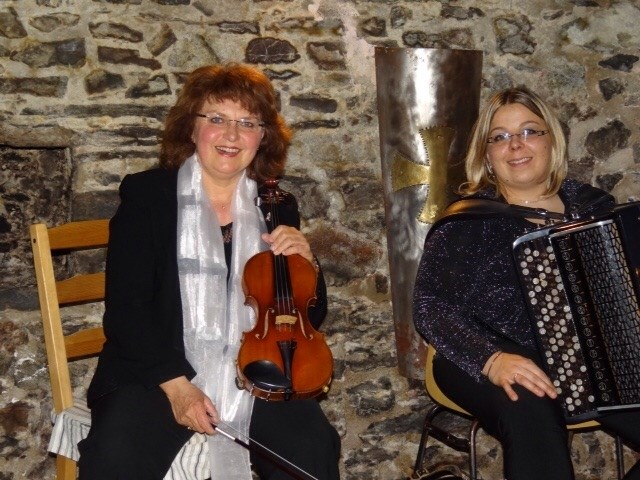 Concert de Véronique Daverio violon et Camille Privat accordéon Dinard
