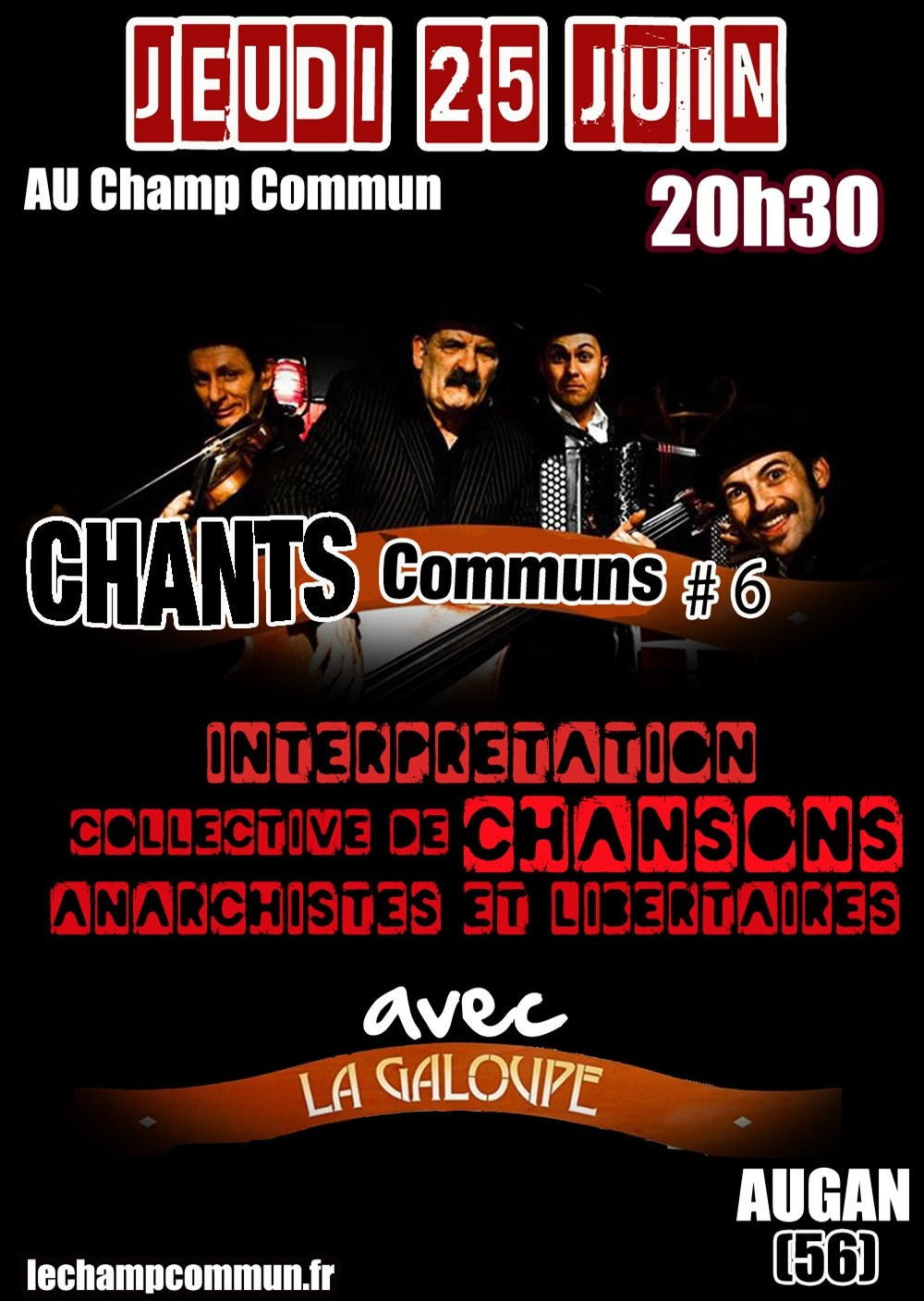 Interprétation collective de chants libertaires Augan