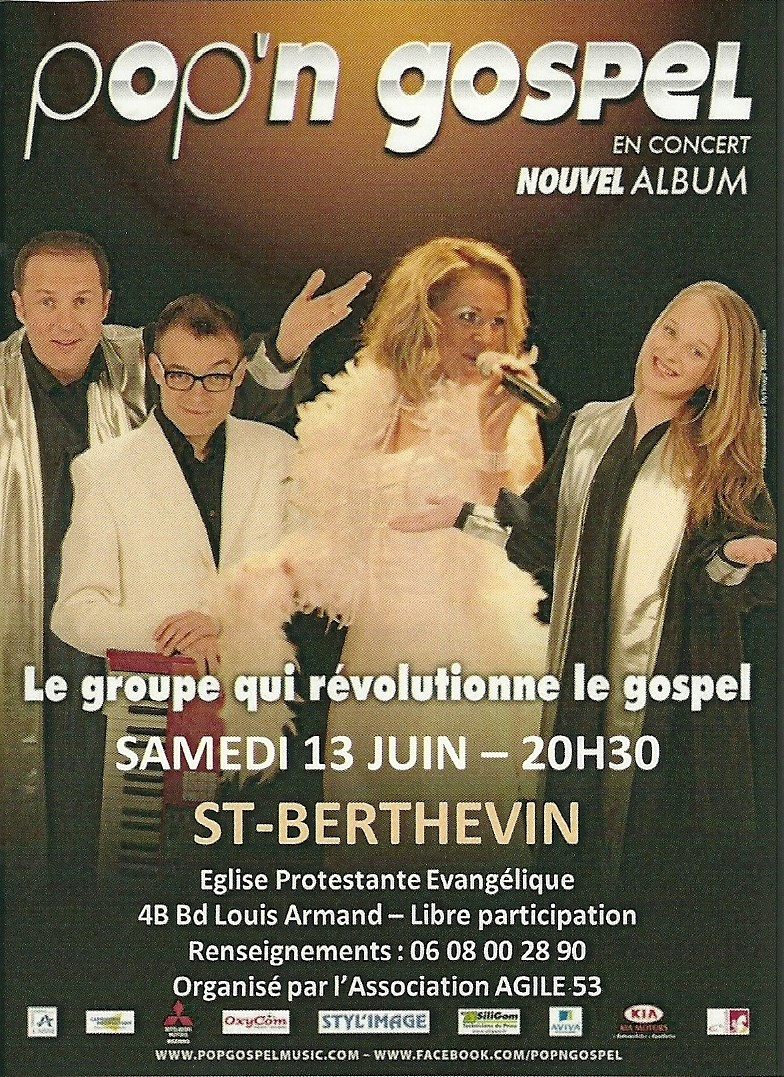 Gospel avec le groupe Pop'n Gospel Saint-Berthevin