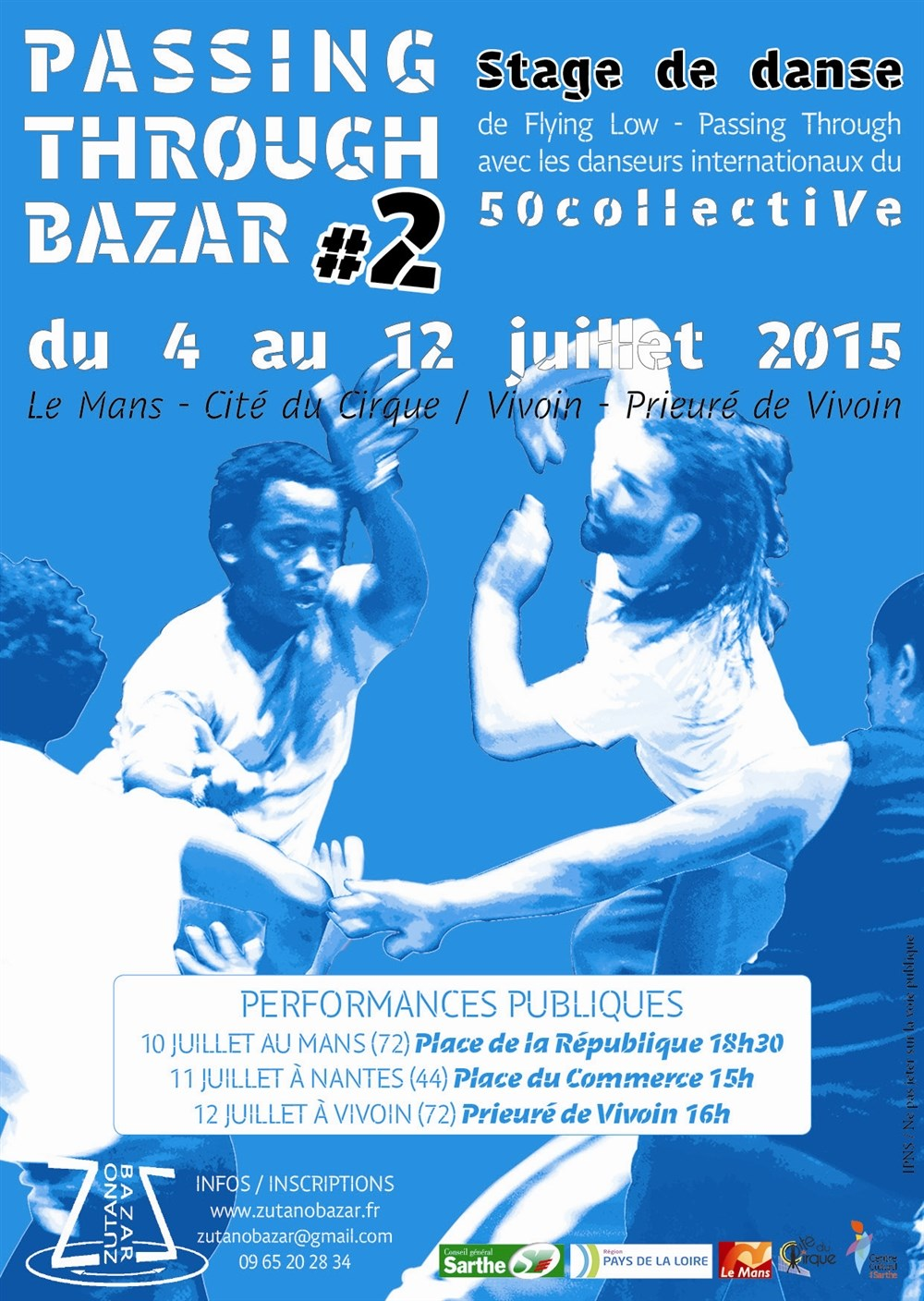 Week-end stage de danse Passing Through Bazar #2 Vivoin 04 juillet 2015