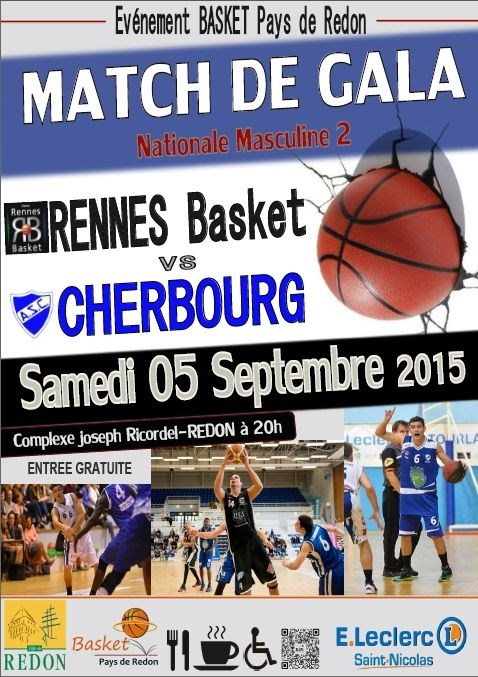 Match de gala basket national masculin Redon