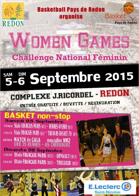 Women games basket challenge national féminin Redon