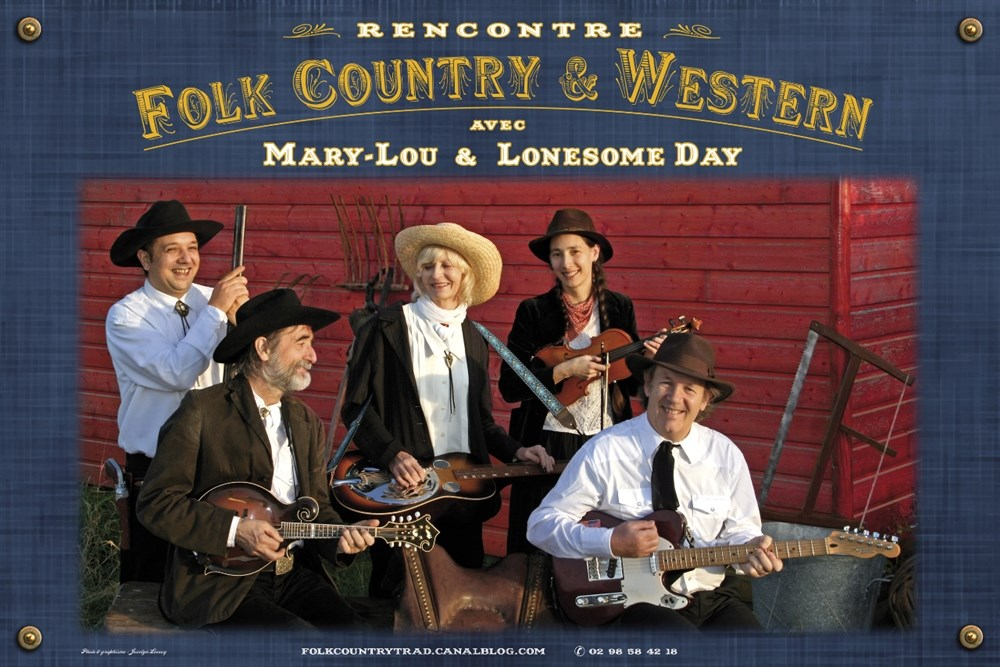 Rencontre folk country et western Mary-Lou et Lonesome Day Plaine-Haute