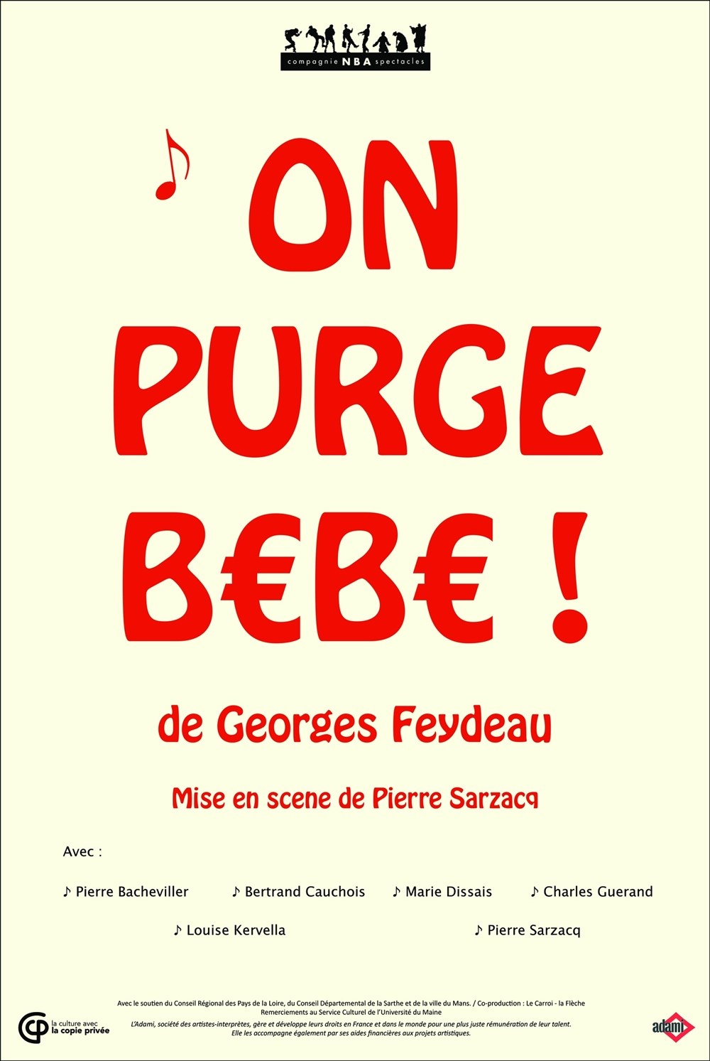 On purge bébé ! de G Feydeau par la Cie NBA Spectacles