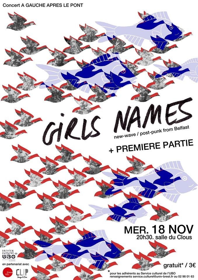 Girls Names (New Wave/Post Punk from Belfast) + première partie Brest