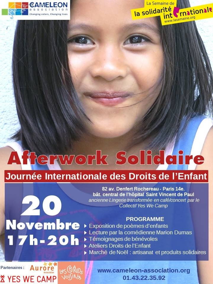 Afterwork - Journée Internationale des Droits de l'Enfant Paris 14e
