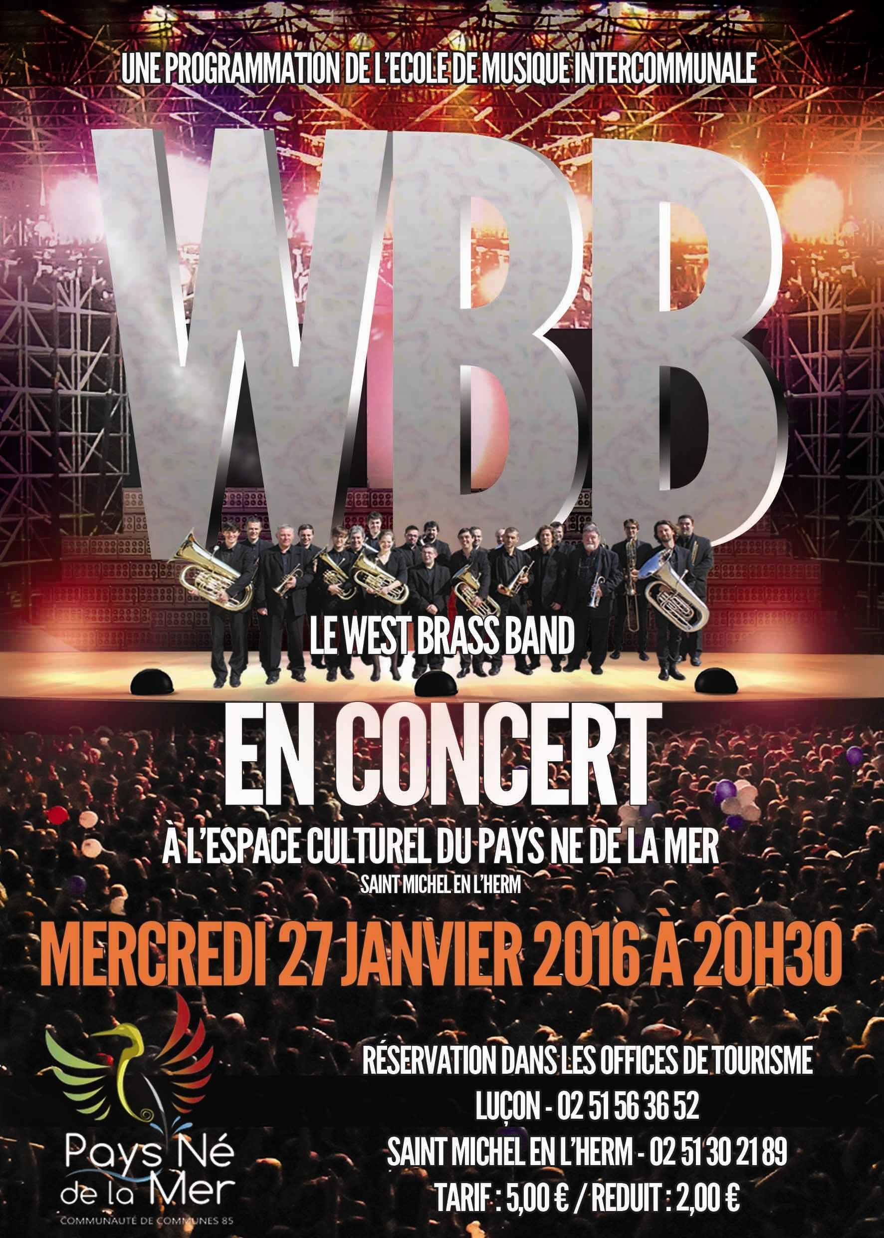 Le West Brass Band en concert Saint-Michel-en-l'Herm