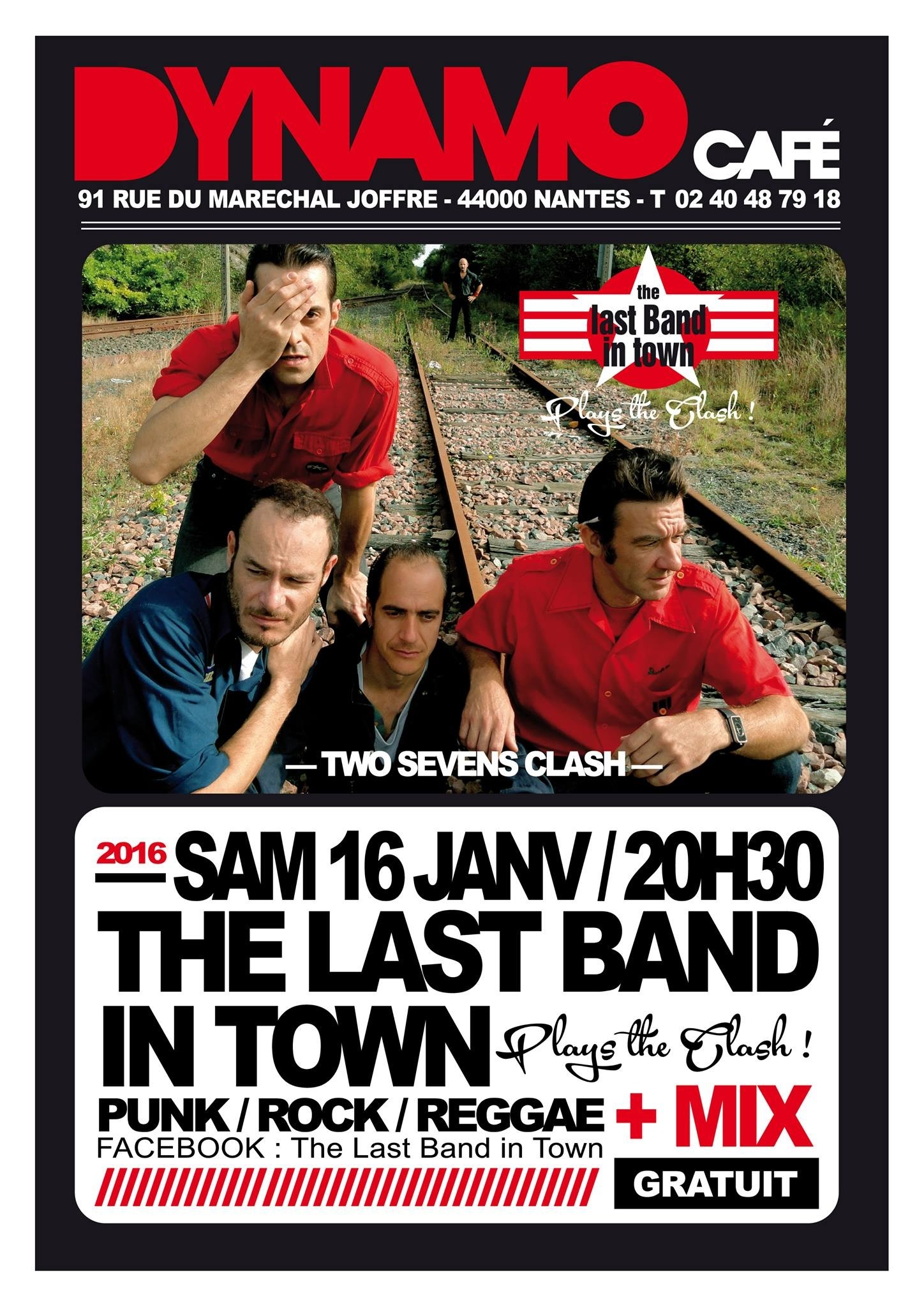 The last band in town plays The clash Nantes