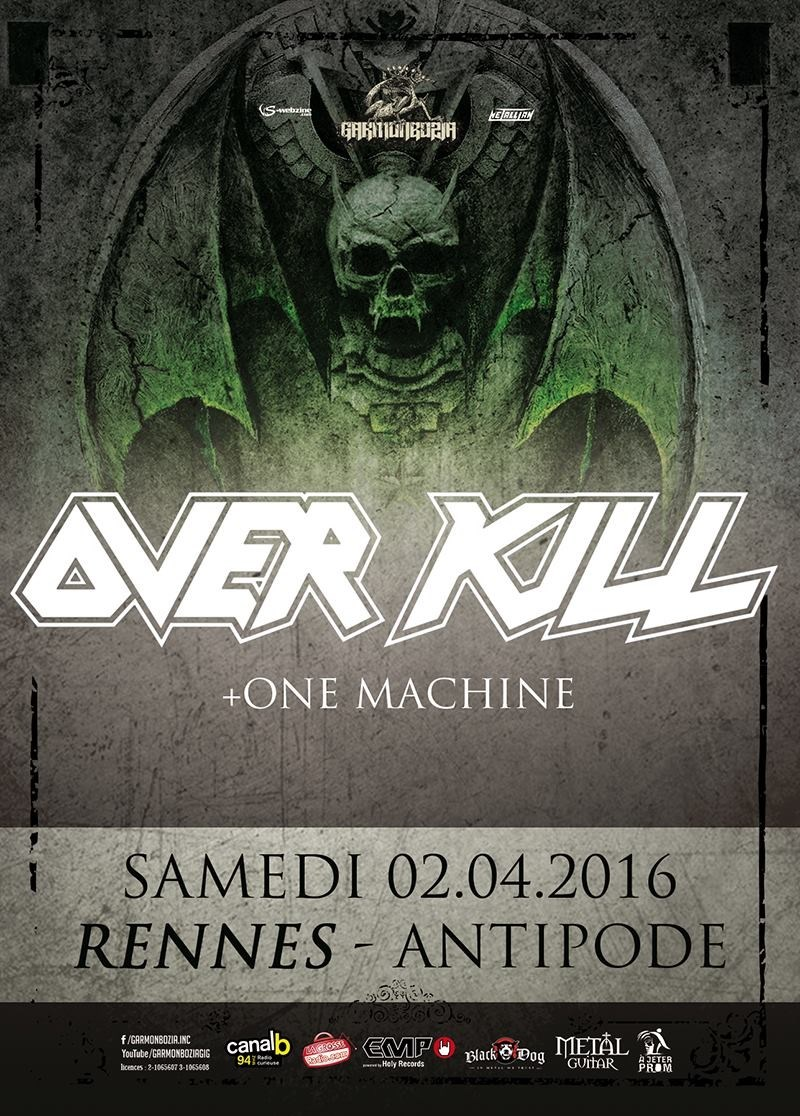 Thrash Metal Overkill + One Machine