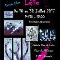 Exposition  Lélie, peinture abstraite