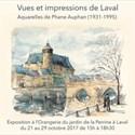 Vues et impressions de Laval : aquarelles de Phane Auphan