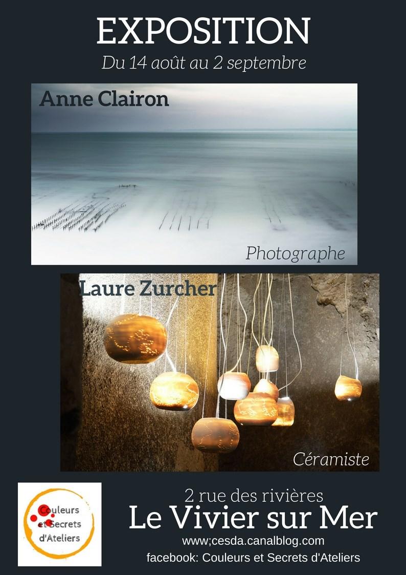 Vernissage de l'exposition de Anne Clairon et Laure Zurcher