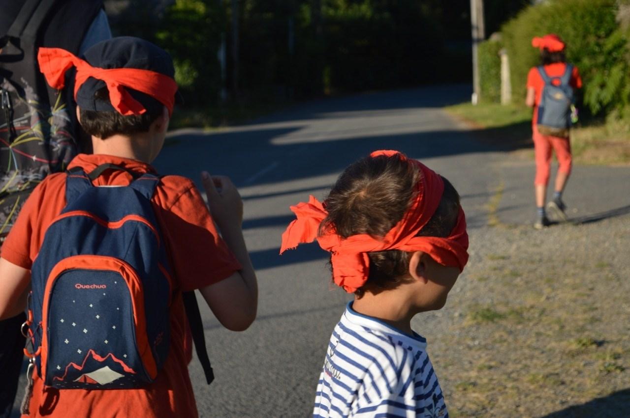 Balade contée ludique, participation des enfants