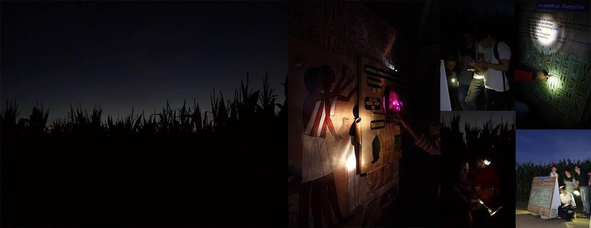 Nocturne au labyrinthe d'Honfleur