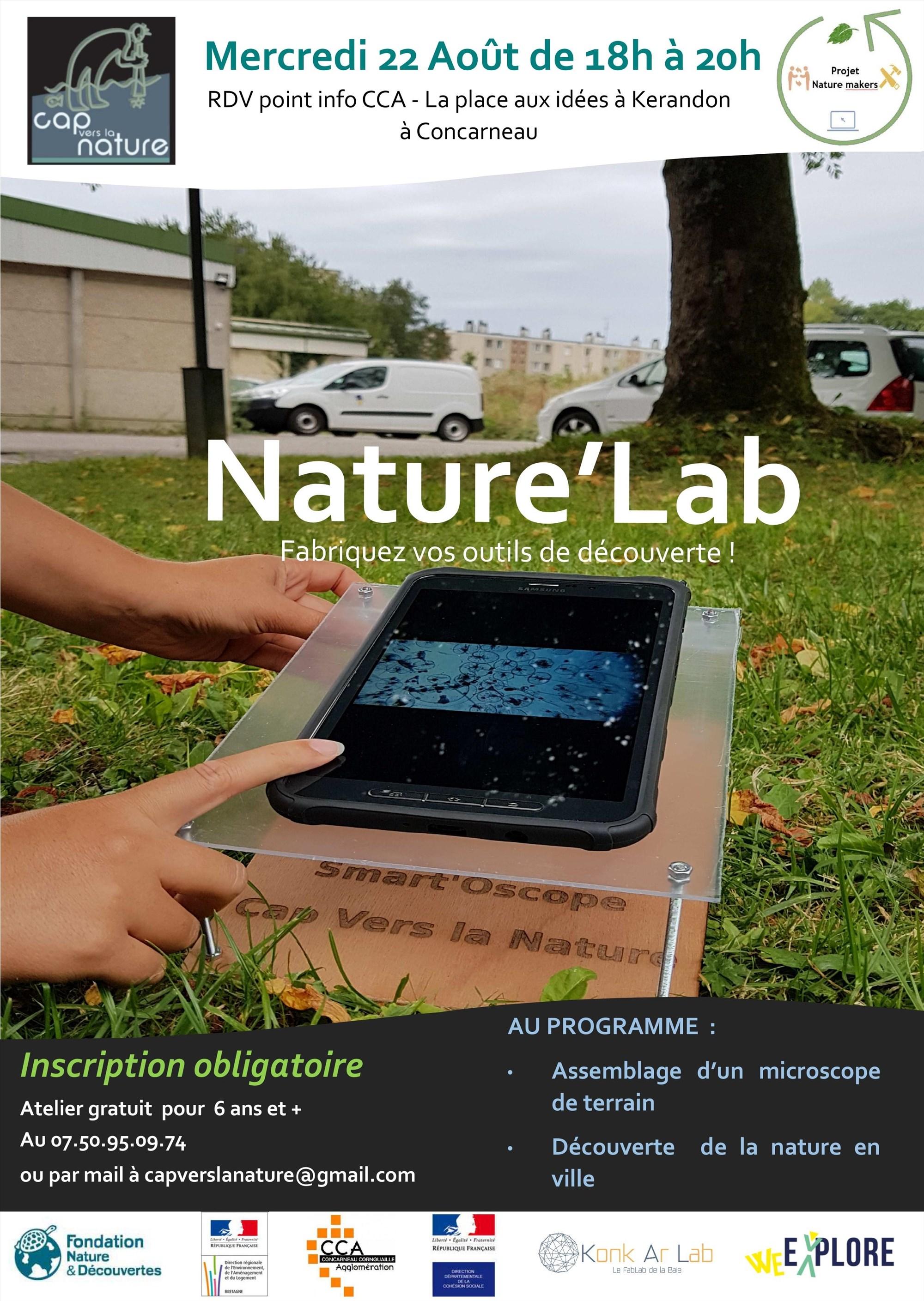 Nature'Lab, fabriquez votre microscope de terrain