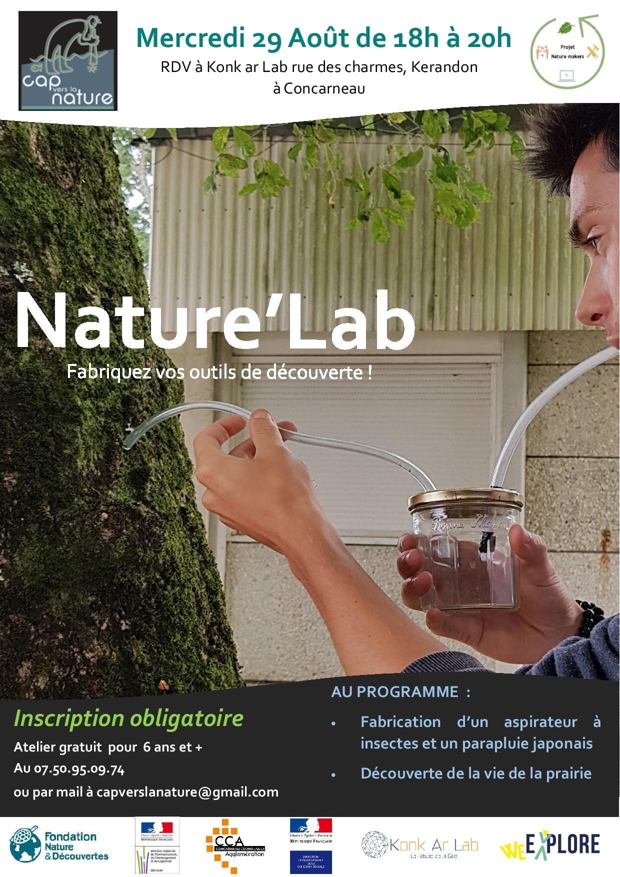 Nature'Lab, fabriquez votre aspirateur à insectes