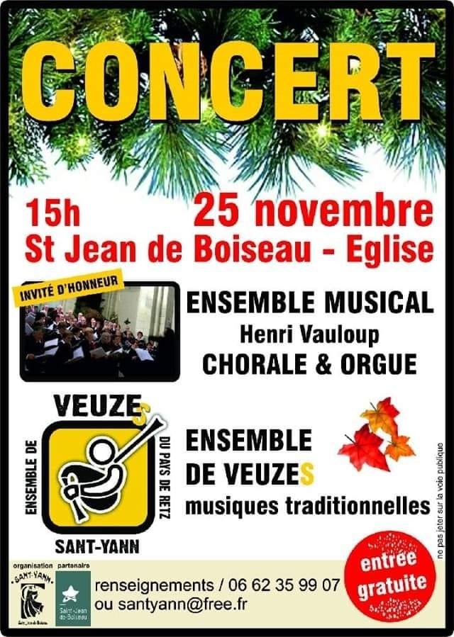 Chorale Henri Vauloup Et Ensemble De Veuzes Sant Yann