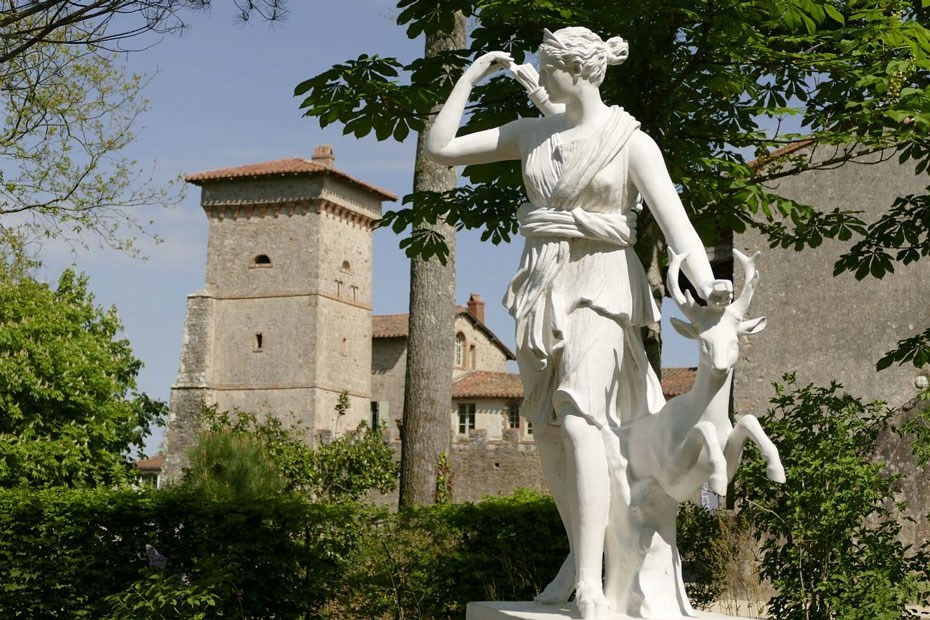 Statue de Diane au parc du domaine de la Garenne Lemot © V. Derouet-Gautier