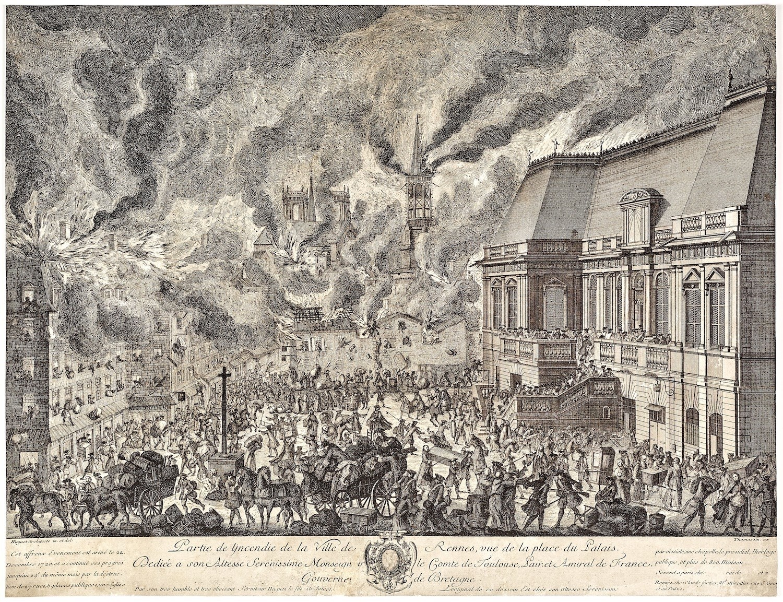 1720, le grand incendie de Rennes